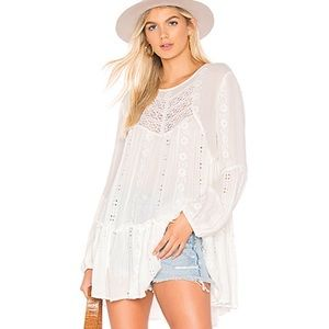 FREE PEOPLE Kiss KISS Tunic in Ivory NWT